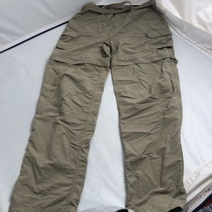 REI olive convertible pants